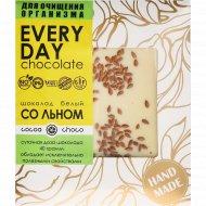 Шоколад белый «Hand-Made» с льном, 40 г.