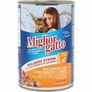 Консерва «Miglior» для кошек. курица и морковь, 405 г.