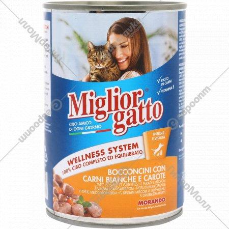 Консерва для кошек «Miglior» курица и морковь, 405 г