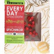 Шоколад молочный «Hand-Made» 35%, с брусникой, 40 г.
