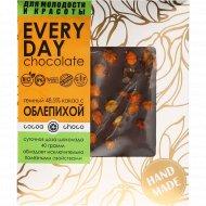 Шоколад темный «Hand-Made» 48.5%, с облепихой, 40 г.