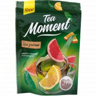 Чай зеленый «Tea Moment» аромат лимон-апельсин-грейпфрут, 20 пакетов.