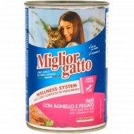 Консерва для кошек «Miglior» паштет ягнёнок и печень, 400 г