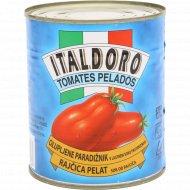 Томаты очищенные «Italdoro» в собственном соку, 800 г.