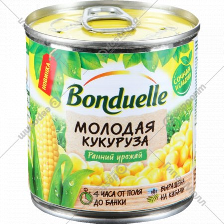Кукуруза сладкая «Bonduelle» молодая, 140 г.