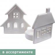 Подсвечник «Домик» фарфоровый 8,3х5, 6х8,3.