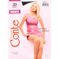 Колготки женские «Conte» Nuance, 20 den, размер 2, nero