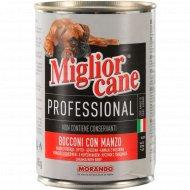 Корм для собак «Miglior cane» кусочки с говядиной, 405 г.