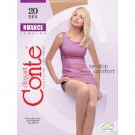 Колготки женские «Conte» Nuance, 20 den, размер 6, bronz