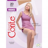 Колготки женские «Conte Elegant Nuance» 20 den, nero, 6.