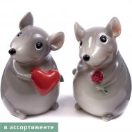 Статуэтка полирезиновая «Belbohemia» мышь, 6.5x7x9.5см