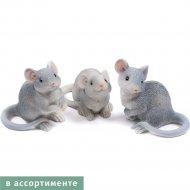 Статуэтка полирезиновая «Belbohemia» мышь, 7x3.5x5см