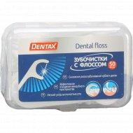 Зубочистки «Dentax» c флоссом, 50 шт.