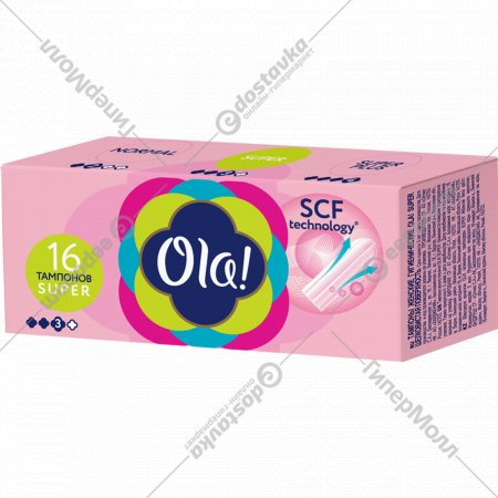 Тампоны женские «Ola!» Super, 16 шт.