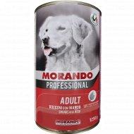 Консервы «Morando» для собак, кусочки в соусе с говядиной, 1.25 кг.