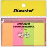 Закладки бумажные «Silwerhof» 50х23 мм, 50 л