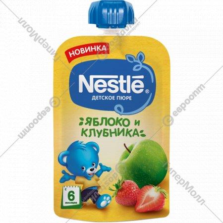 Пюре «Nestle» яблоко и клубника, 90 г.
