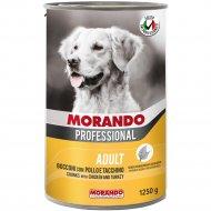 Консерва «Morando» для собак, кусочки в соусе с курицей, 1.25 кг.