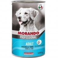 Консерва «Morando» для собак, кусочки в соусе с мясом и рыбой, 1.25 кг.