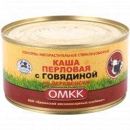 Консервы мясные «Каша перловая с говядиной» по-деревенски, 325 г.