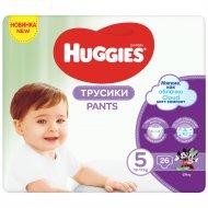 Трусики-подгузники «Huggies» 13-17 кг, размер 5, 26 шт