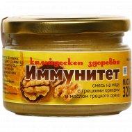 Смесь на меду «Золотая сота» с грецкими орехами, 320 г.