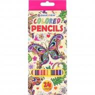 Карандаши цветные «Darvish» бабочка, 24 цвета.