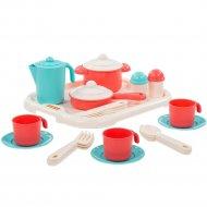 Набор детской посуды «Полесье» Настенька, с подносом на 3 персоны