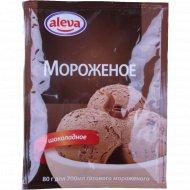 Десерт сухой для мороженого «Алева» шоколадный, 80 г.