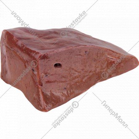 Печень говяжья мороженая, 1 кг., фасовка 0.7-1.1 кг