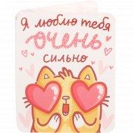 Шоколад молочный «Люблю очень сильно» мини-открытка, 5 г.