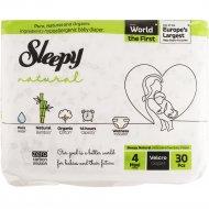 Подгузники детские «Sleepy Natural» Jumbo Maxi, размер 4, 7-14 кг, 30 шт