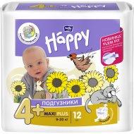 Подгузники для детей «Bella Baby Happy» maxi plus, 4+, 9-20 кг, 12 шт.