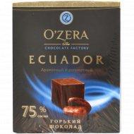 Шоколад горький «O'zera» ароматный и деликатный, 75%, 90 г.