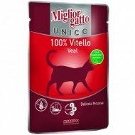 Паучи «Mc unico veal 100%» для кошек, с телятиной, 85 г.