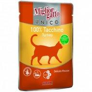 Паучи для кошек «Mc unico turkey 100%» с индейкой, 85 г