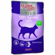 Паучи «Mc unico lamb 100%» для кошек, с ягненком, 85 г.