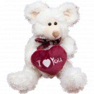 Мягкая игрушка «Мышка/Мишка с сердцем» 21 см, ST8336B.