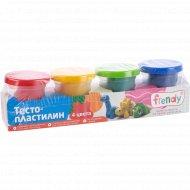 Тесто-пластилин «Frendy» для детского творчества, 4 цвета