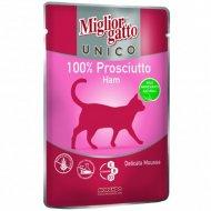 Паучи для кошек «Mc unico ham 100%» с ветчиной, 85 г