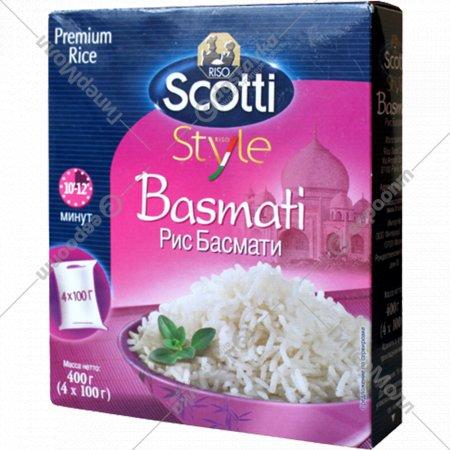 Рис длиннозерный «Riso Scotti» басмати, 400 г.