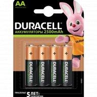 Комплект аккумуляторов «Duracell» AA, 2500mAh, 4 шт
