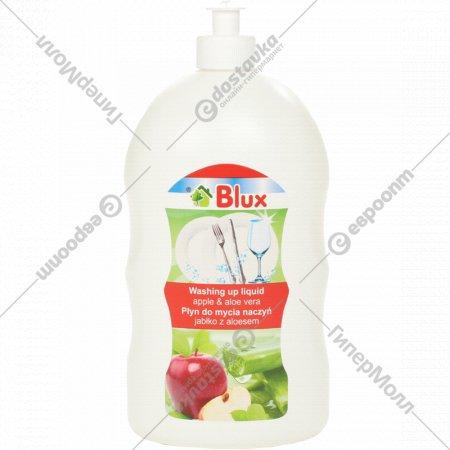 Жидкость для посуды «Blux» алое вера и яблоко, 1000 мл.