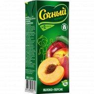 Нектар «Сочный фрукт» яблоко-персик, 200 мл.