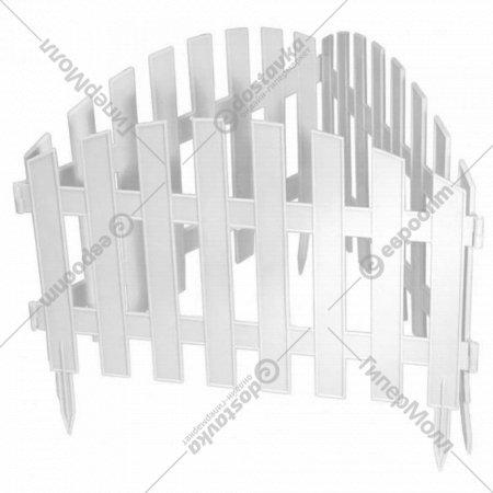 Забор декоративный «Gardenplast» Renesans №2, 3.1х0.35 м, белый.
