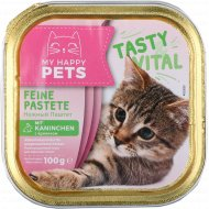 Корм для кошек «My Happy Pets» паштет и кролик, 100 г.