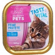 Корм для кошек «My Happy pets» паштет с лососем, 100 г.