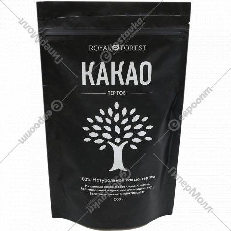 Какао тертое «Royal Forest» натуральное, 200 г