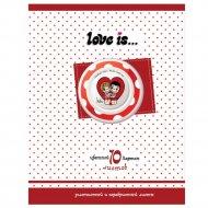 Набор цветного картона «Love is» А4, 10 листов.
