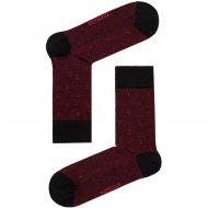 Носки мужские «Dw Classic» черно-бордовые, размер 27.